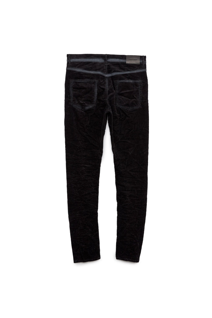 P002 MID RISE WITH TAPERED LEG - Black Corduroy