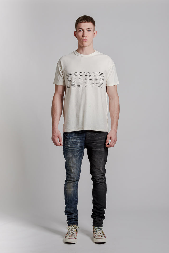 P101 RELAXED FIT - Wordfinder White