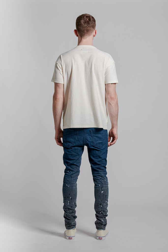 P001 LOW RISE WITH SLIM LEG - Indigo Gradient Grey