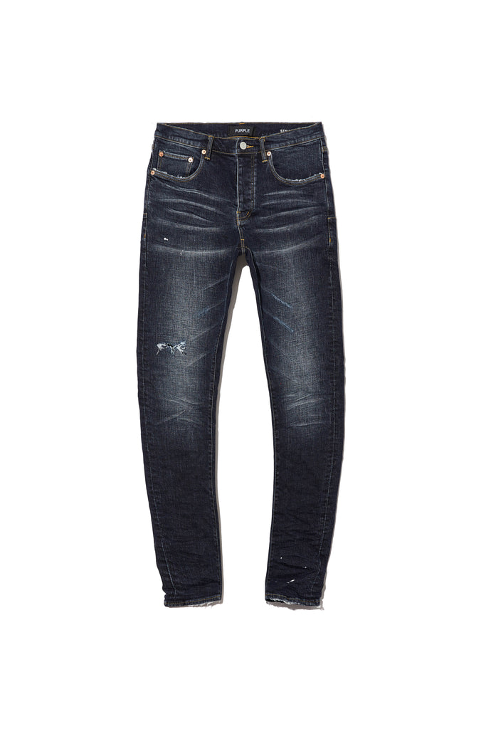 P001 LOW RISE WITH SLIM LEG - Dark Indigo Wash