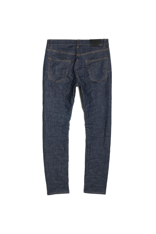 P001 LOW RISE WITH SLIM LEG - Raw Indigo