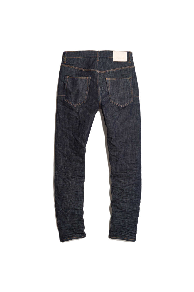 P005 MID RISE WITH STRAIGHT LEG - Raw Indigo