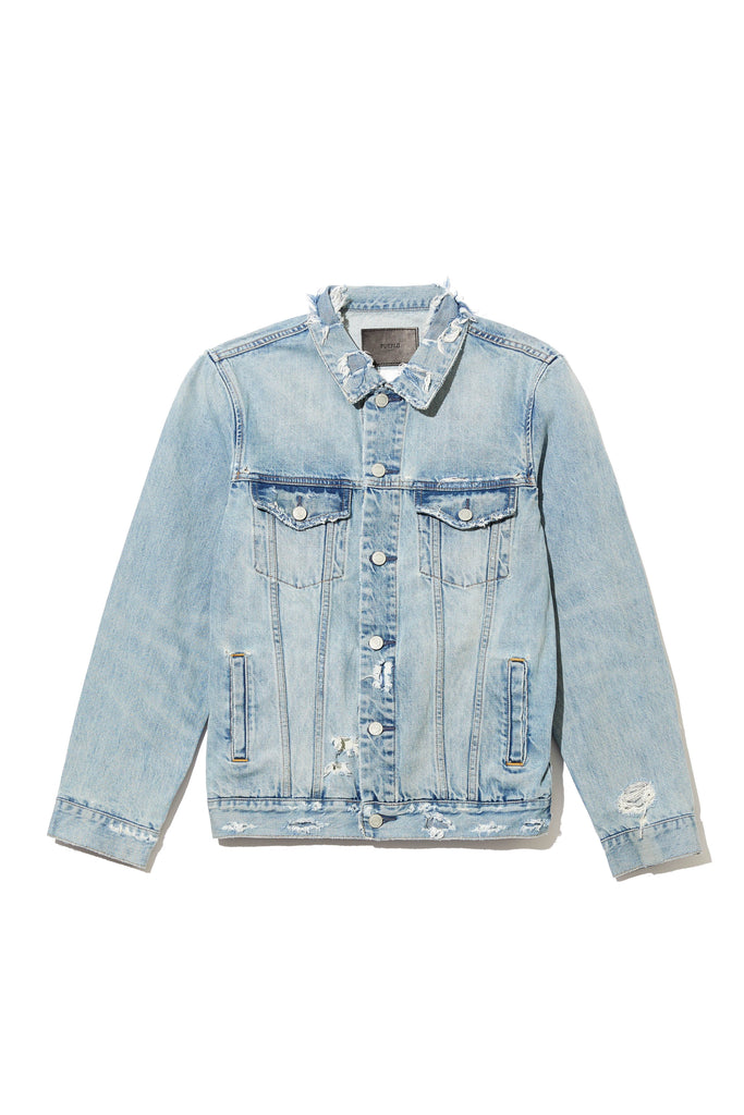 P006 DENIM JACKET - Vintage Wash Destroy