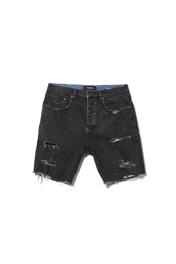 P020 MID RISE SHORT - Vintage Coated Black