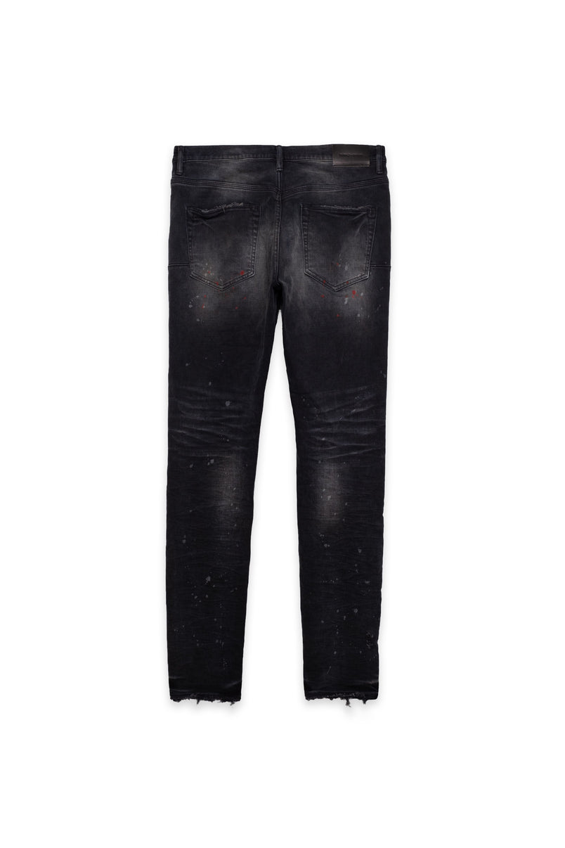 P002 MID RISE WITH TAPERED LEG - Vintage Spotted Black Wash