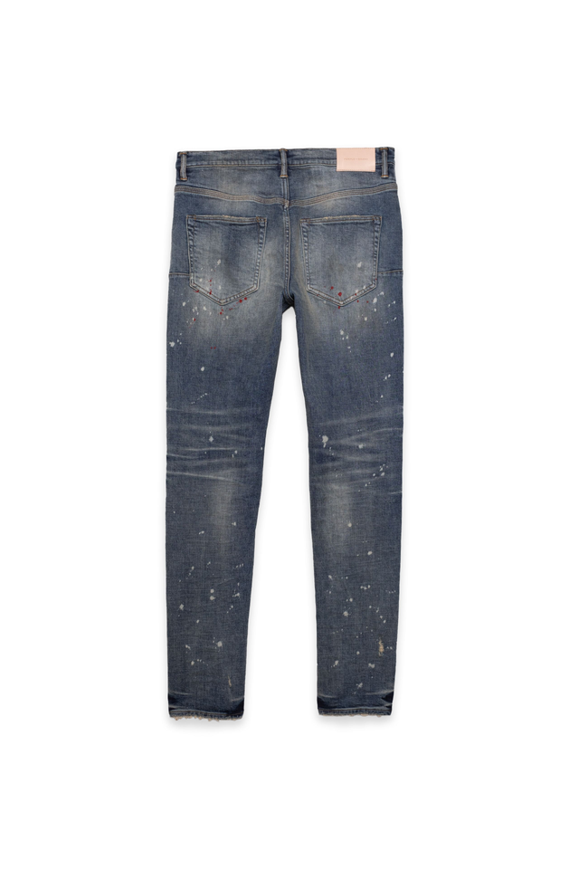 P002 MID RISE WITH TAPERED LEG - Vintage Spotted Indigo