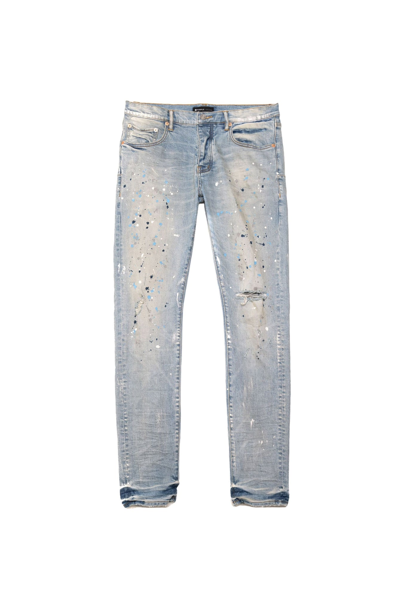P001 LOW RISE WITH SLIM LEG - Light Indigo Painter Jean
