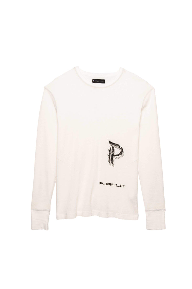 P202 L/S Reflective Stitch Crew - Off White Scorpion