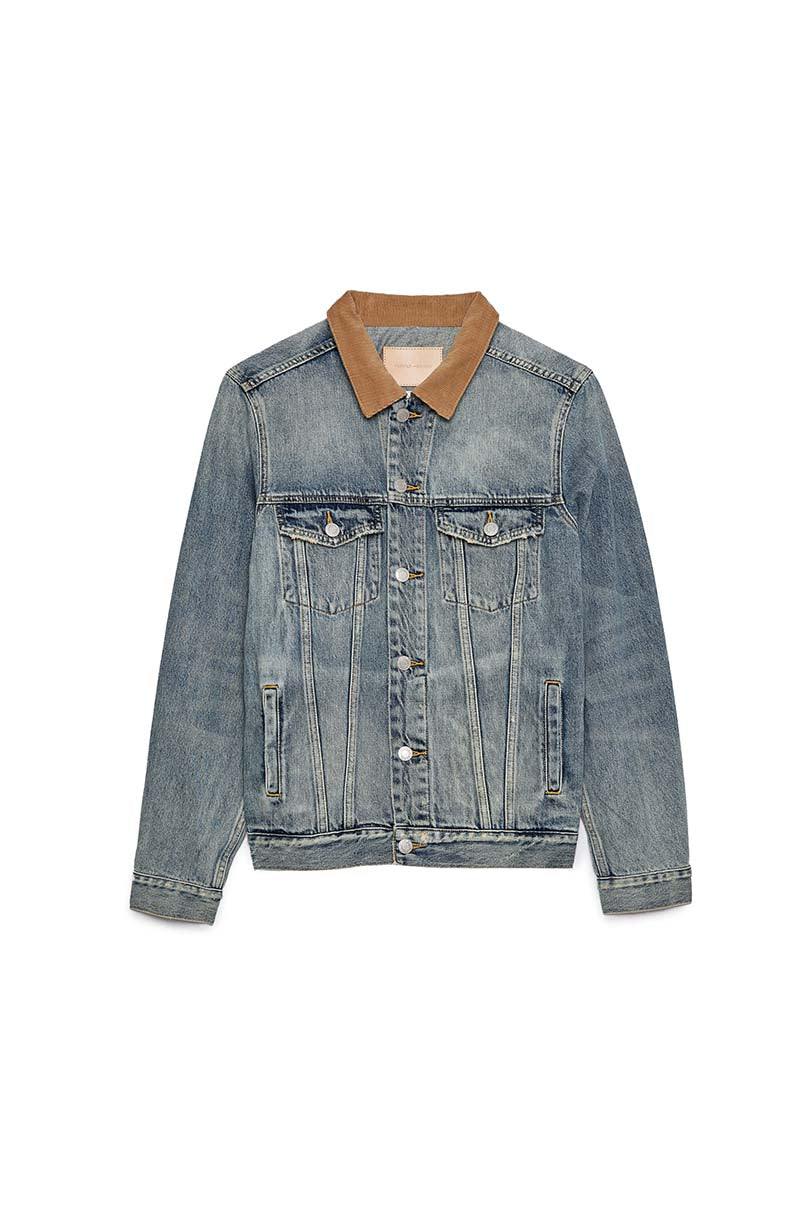 P006 DENIM JACKET - Vintage Corduroy Collar