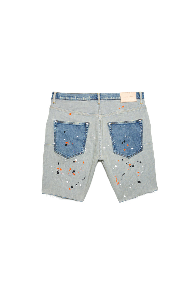 P020 MID RISE SHORT - Light Indigo Reverse Repair