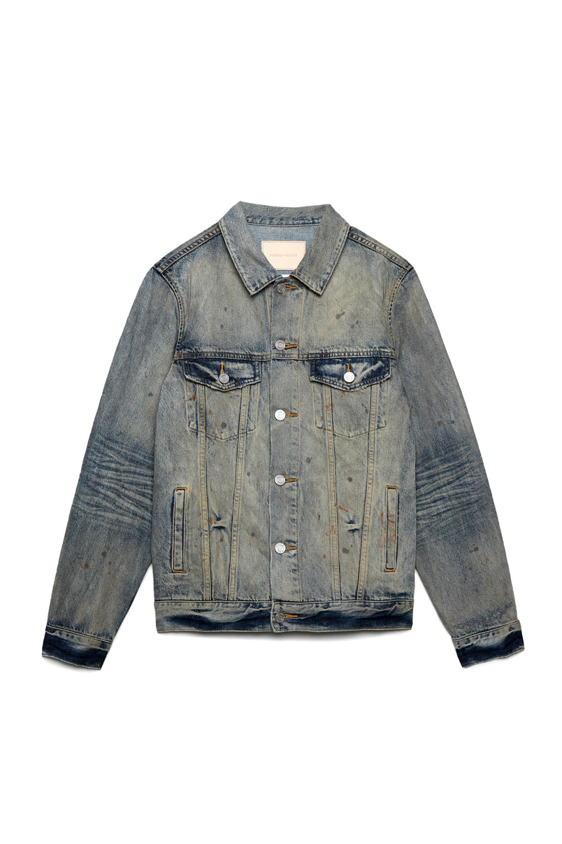 P006 DENIM JACKET - Indigo Oil wash