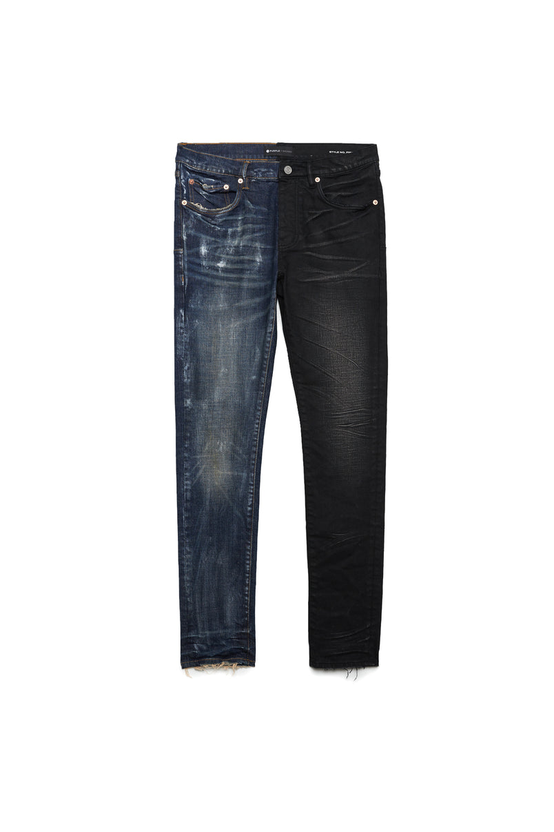 P001 LOW RISE WITH SLIM LEG - Half and Half Jean