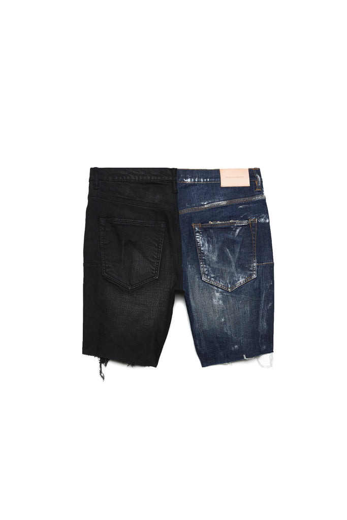 P020 MID RISE SHORT - Half and Half Short