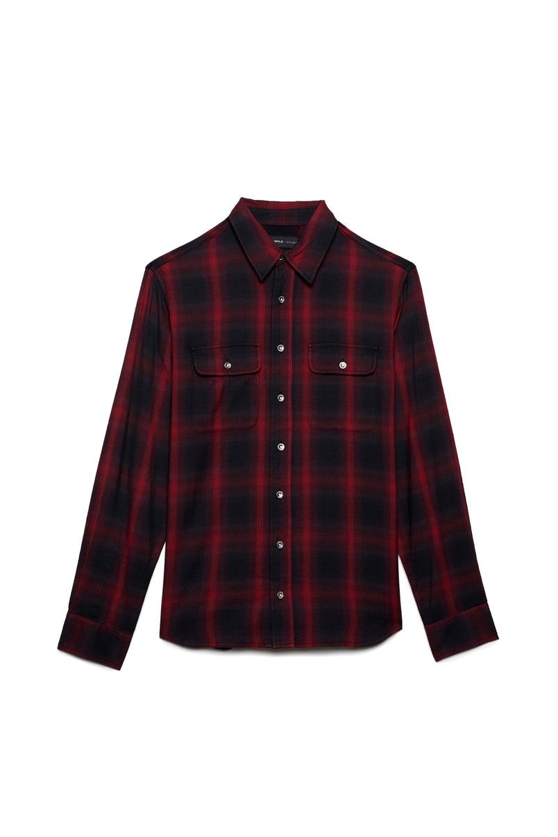 P303 RELAXED FIT - Reverse Flannel Red