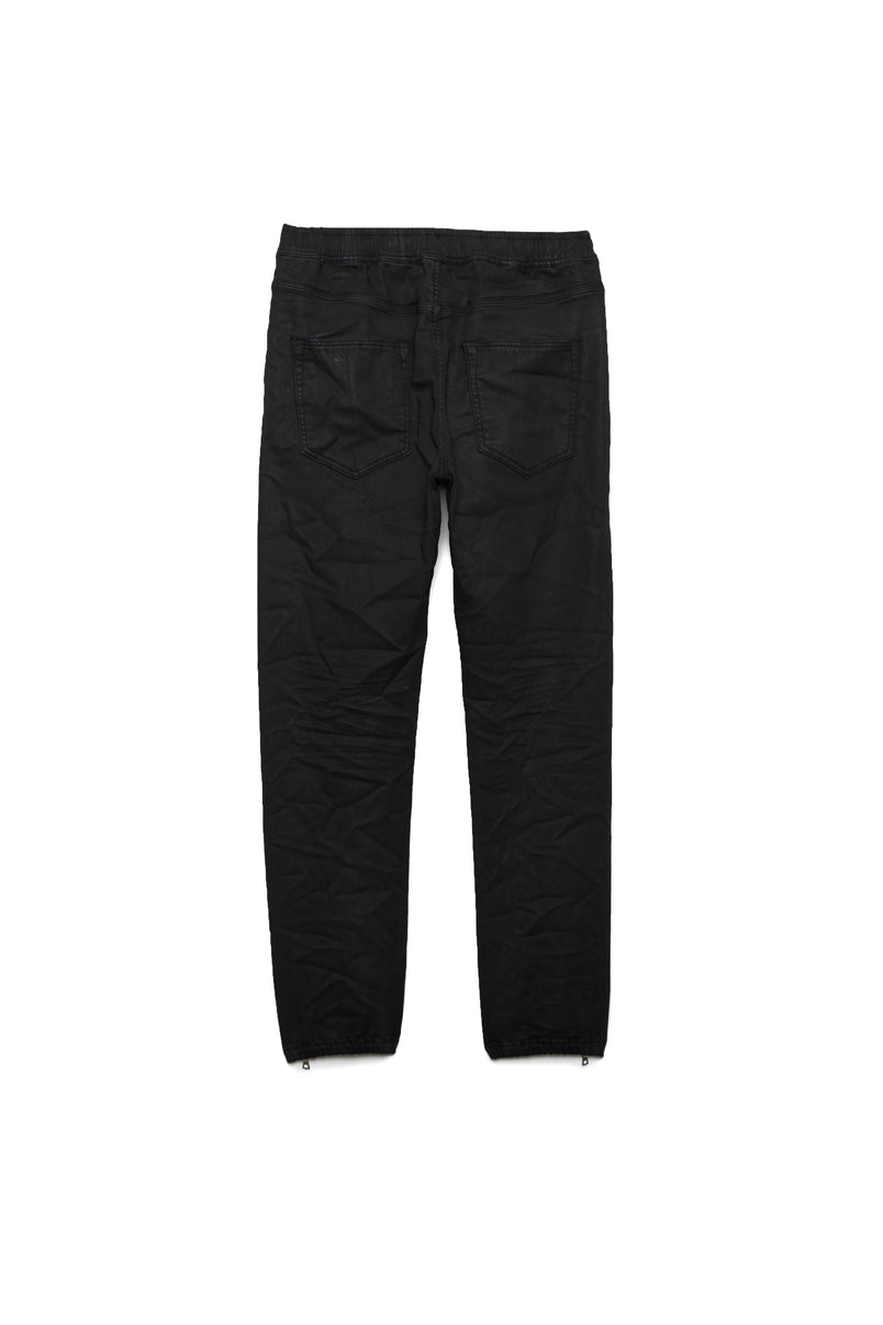 P012  - Coated Black Wash Jogger