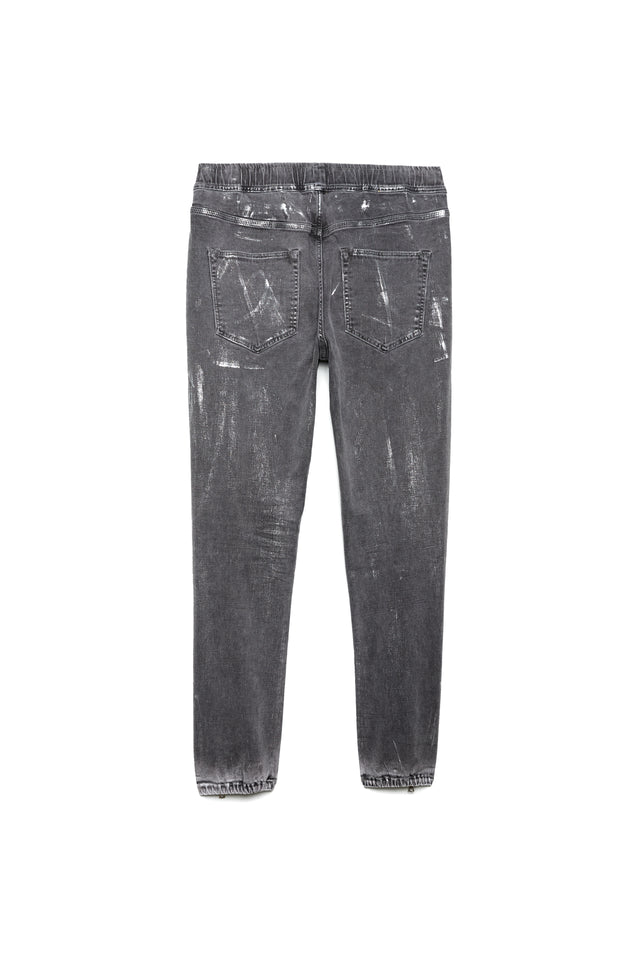 P012 - Grey Coated Metallic White Wash
