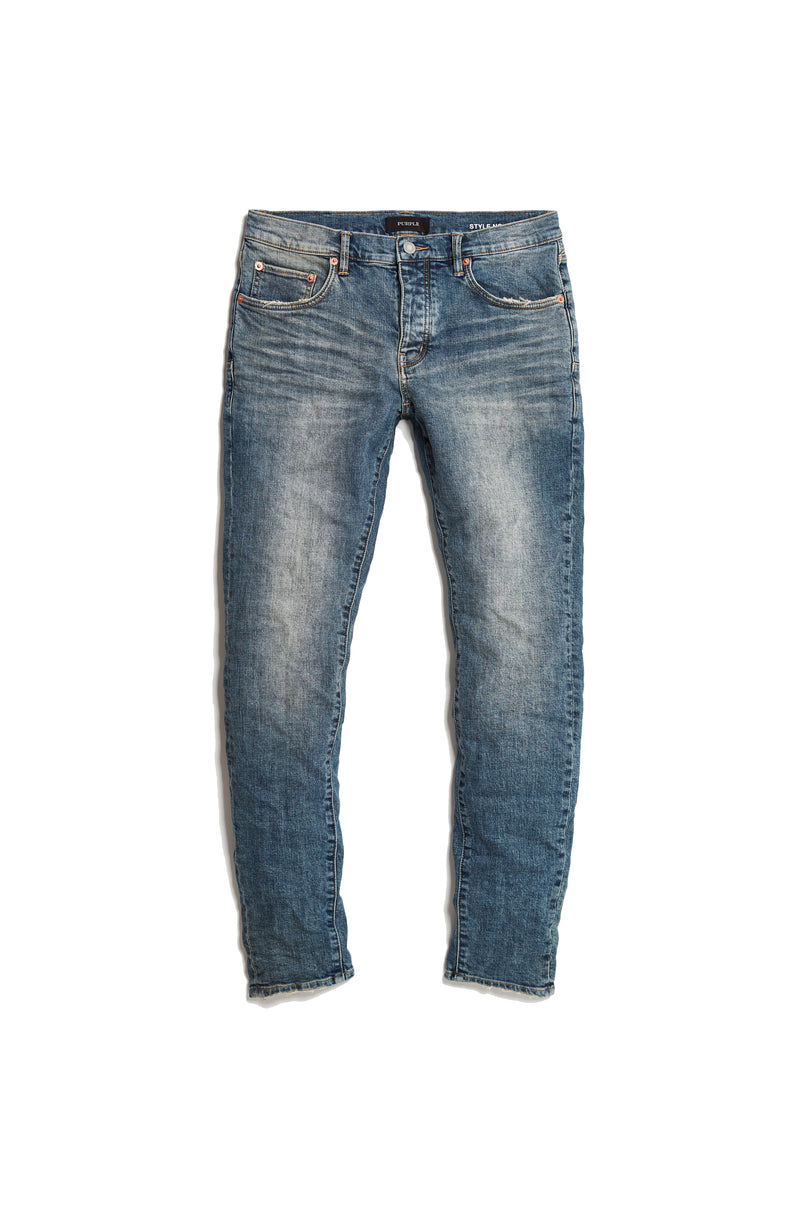 P002 MID RISE WITH TAPERED LEG - Three Year Wash