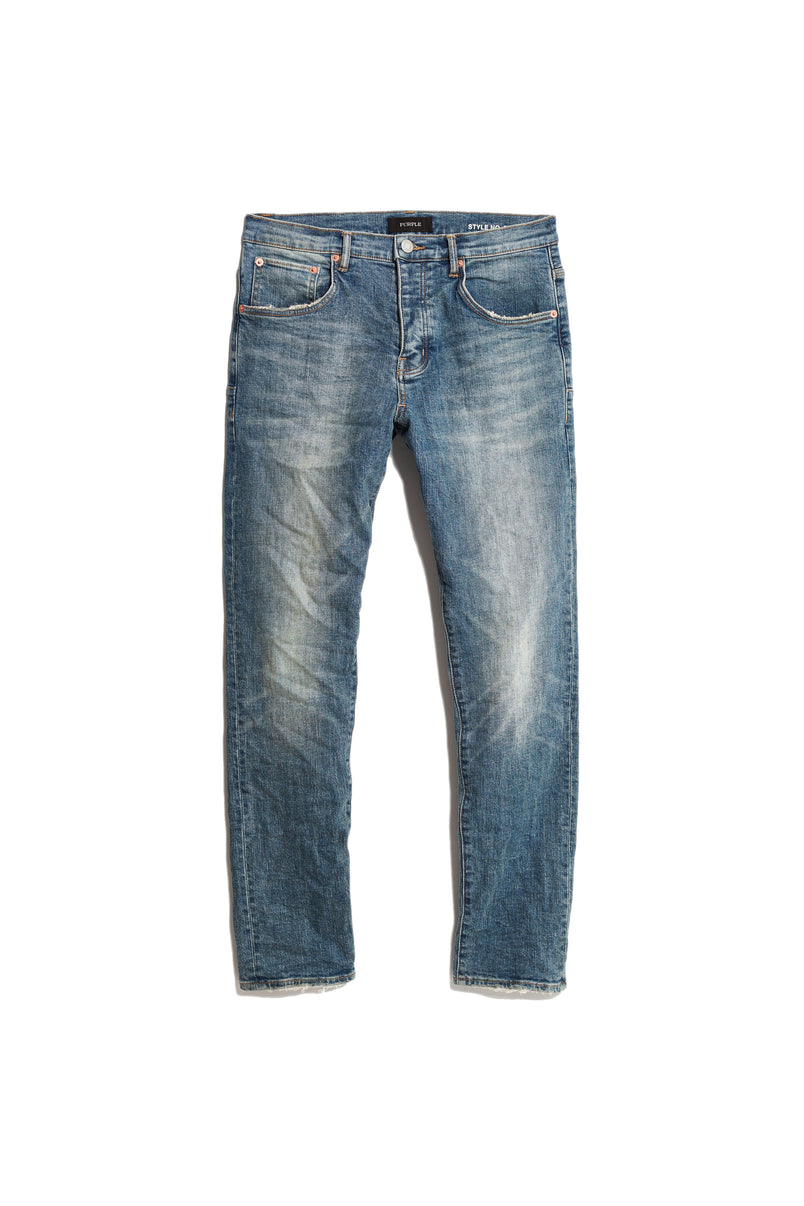 P005 MID RISE WITH STRAIGHT LEG - Mid Blue Wash