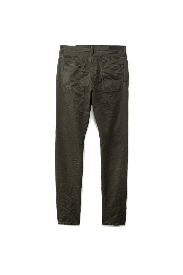 P001 LOW RISE WITH SLIM LEG - Olive Twill