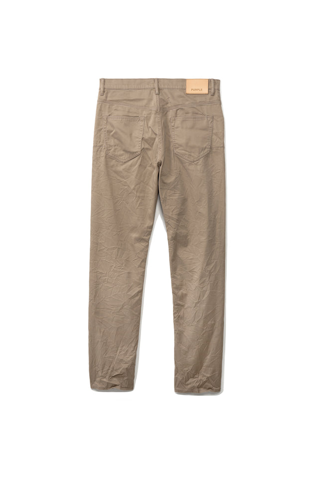 P005 MID RISE WITH STRAIGHT LEG - Khaki Twill