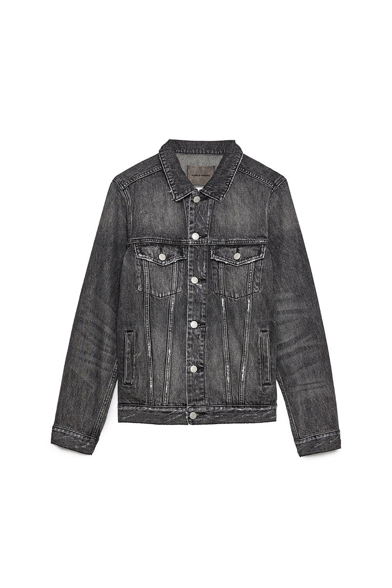 P006 DENIM JACKET - Black Wash