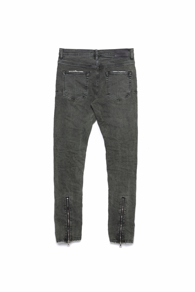 P002 MID RISE WITH TAPERED LEG - Khaki Overspray Zip