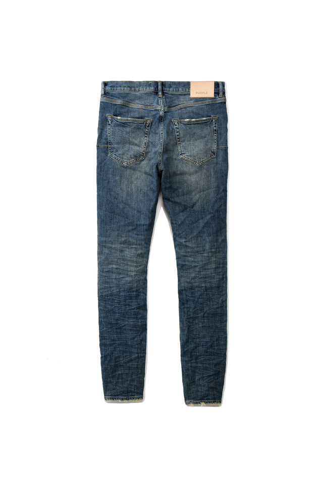 P001 LOW RISE WITH SLIM LEG - Mid Blue Wash