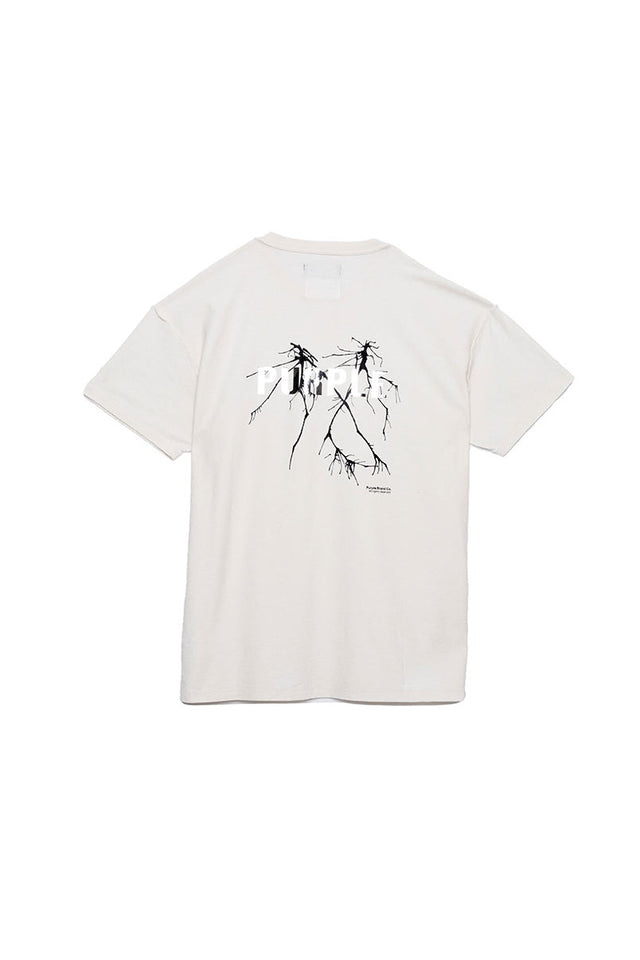 P101 RELAXED FIT - Ink Blot - White T