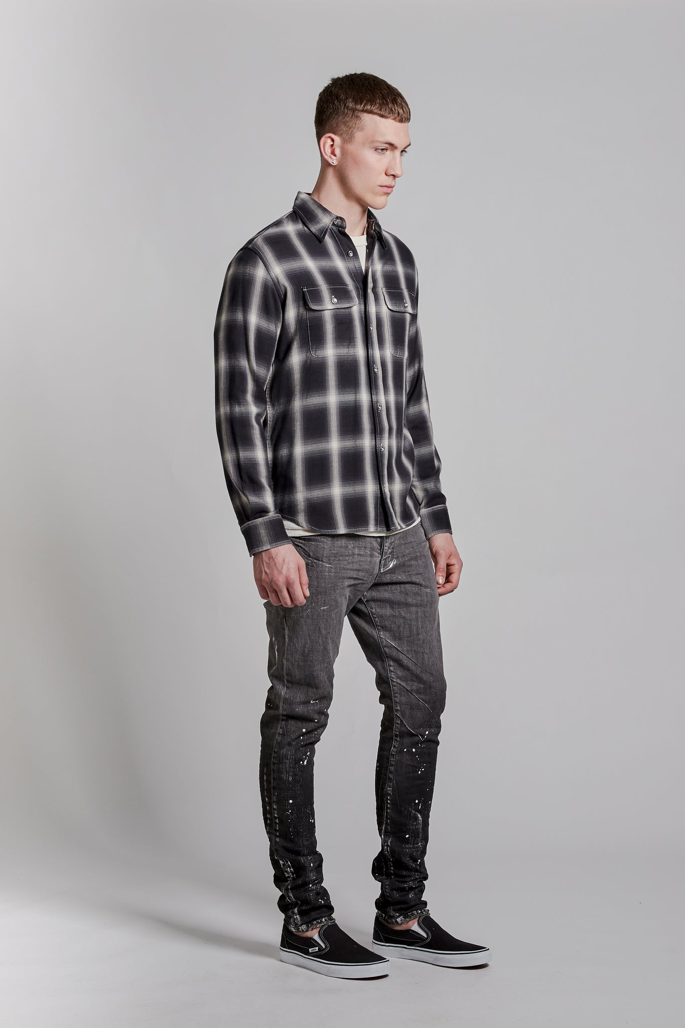 P303 RELAXED FIT - Reverse Flannel Black