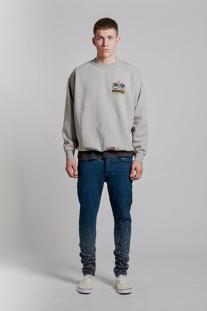 P402 RELAXED OVER SIZED CREW - Eye Grey