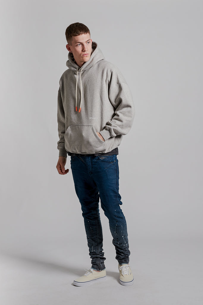 P401 RELAXED OVERSIZED HOODIE - Collegiate Grey