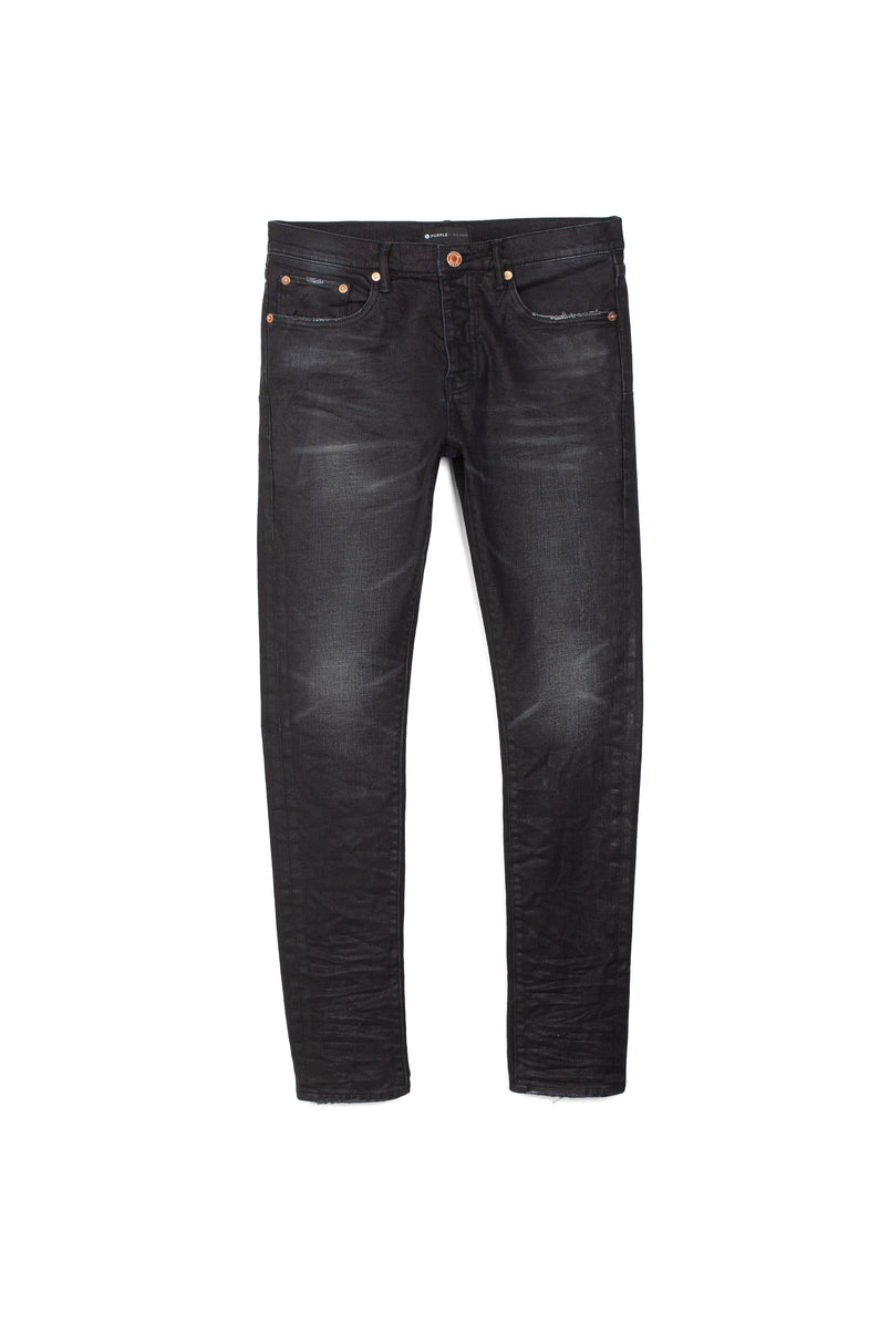P001 LOW RISE WITH SLIM LEG - Black Three Year Vintage Wash