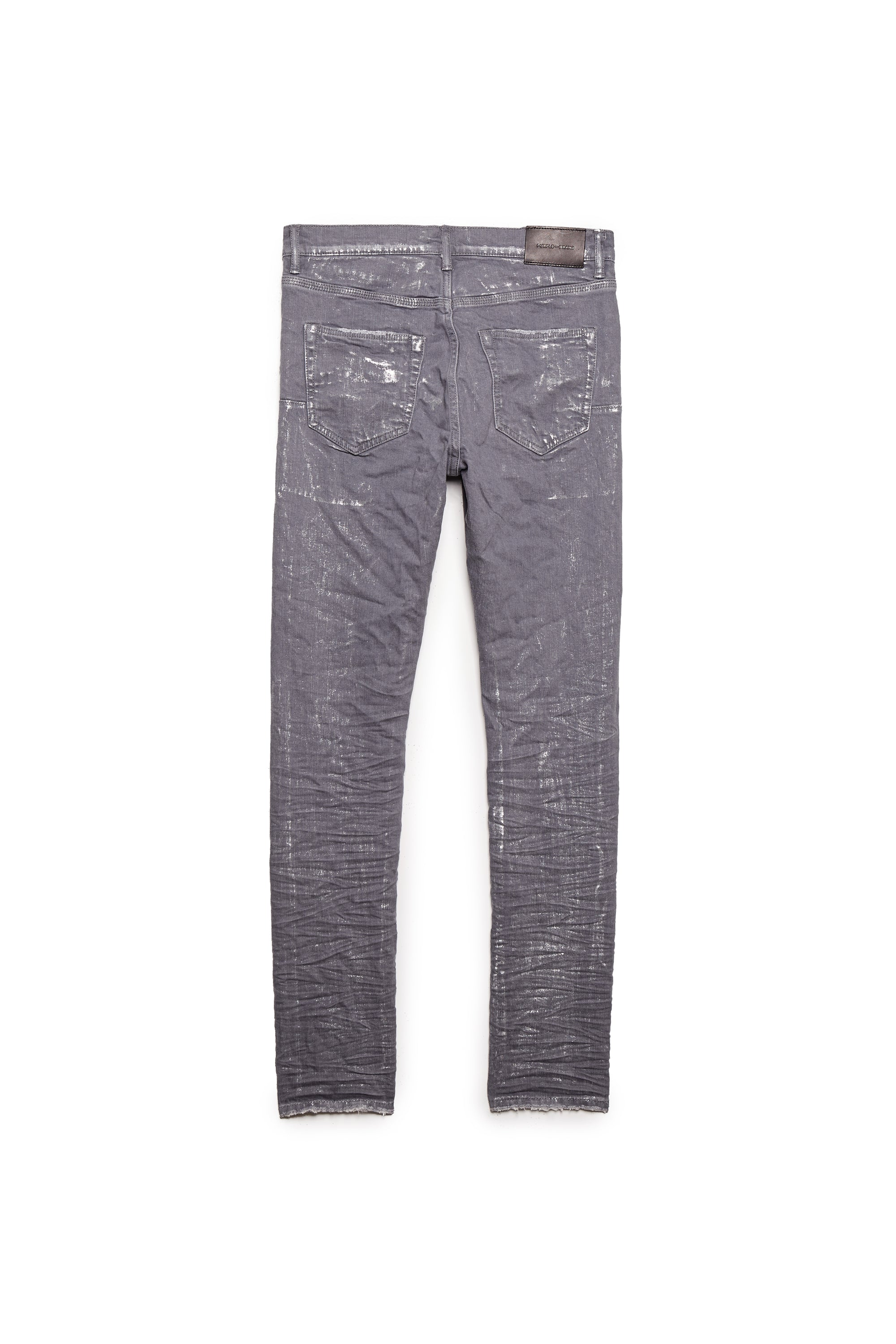 P001 LOW RISE WITH SLIM LEG - Grey Metallic Silver