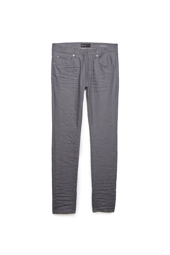 P001 LOW RISE WITH SLIM LEG - Grey Raw Denim
