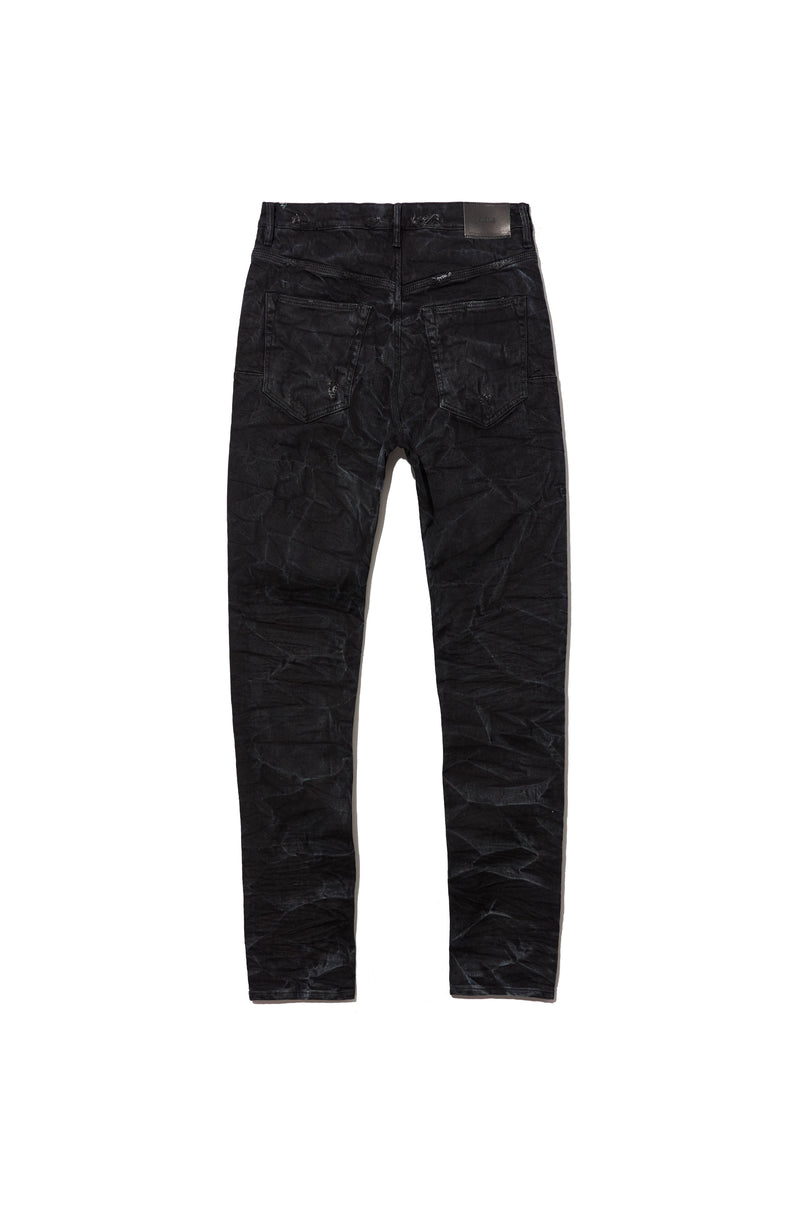 P002 MID RISE WITH TAPERED LEG - Black Marble Wash