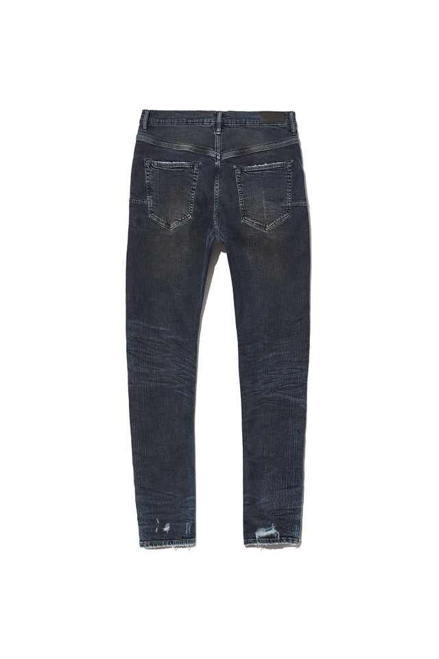 P002 MID RISE WITH TAPERED LEG - Dark Indigo Repair