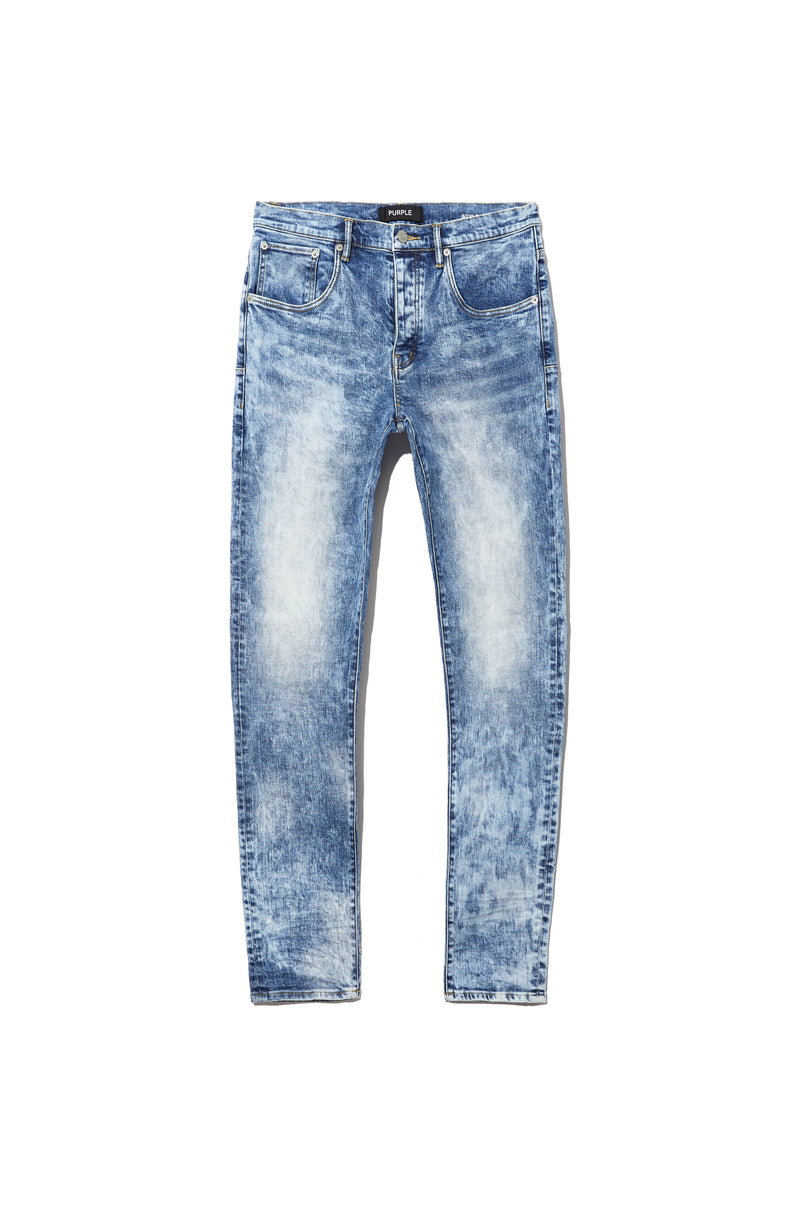 P002 MID RISE WITH TAPERED LEG - Blue Marble Wash