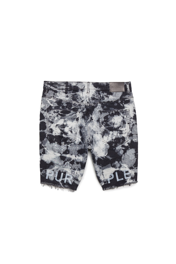 P020 MID RISE SHORT - Black Marble Bleach
