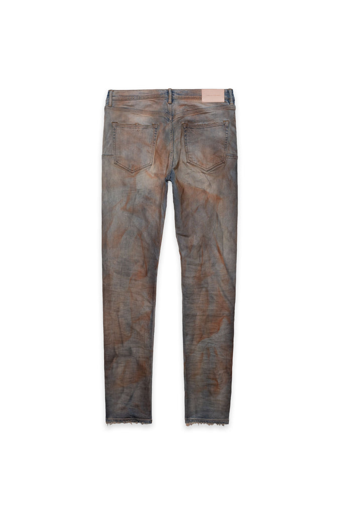 P001 LOW RISE WITH SLIM LEG - Rust Indigo Dirty Resin