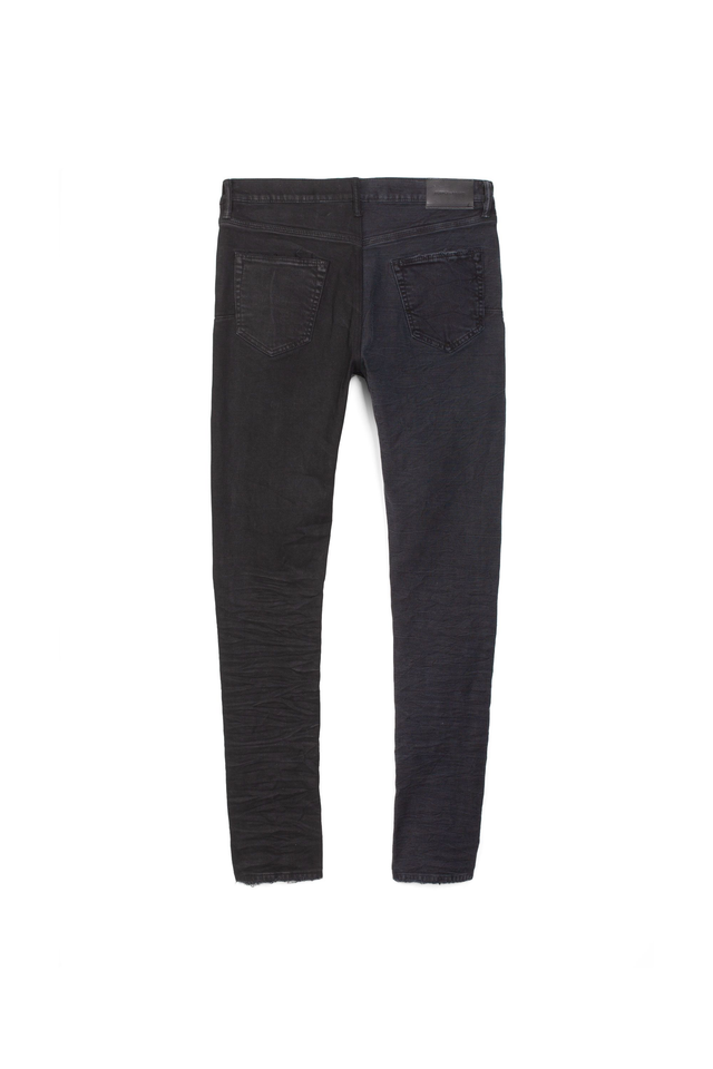 P001 LOW RISE WITH SLIM LEG - Tonal Black Split
