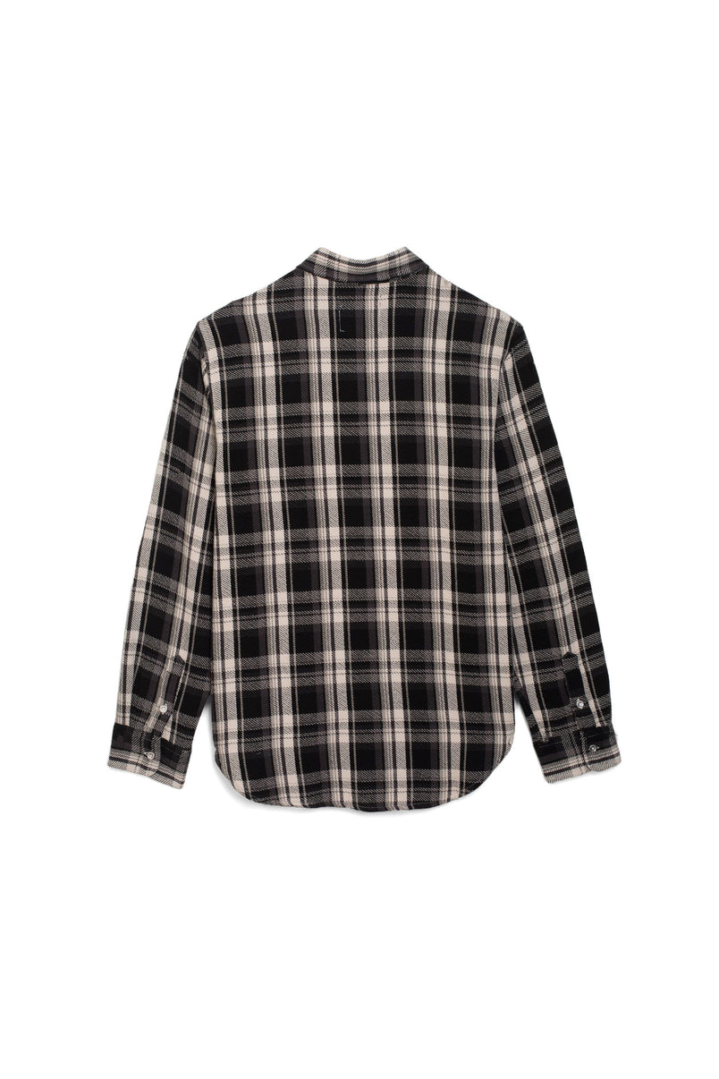 P303 -  Jacquard Twill Flannel Black