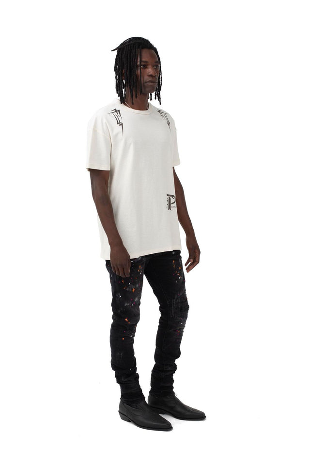 P101 RELAXED FIT - Pyramid White