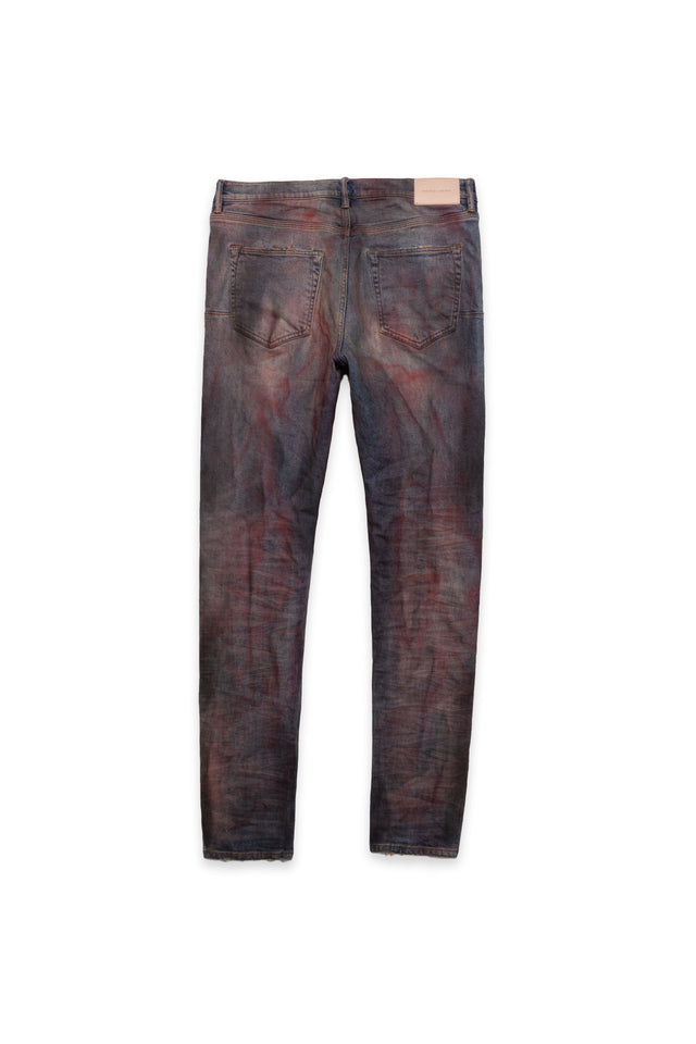 P001 LOW RISE WITH SLIM LEG - Crimson Indigo Dirty Resin