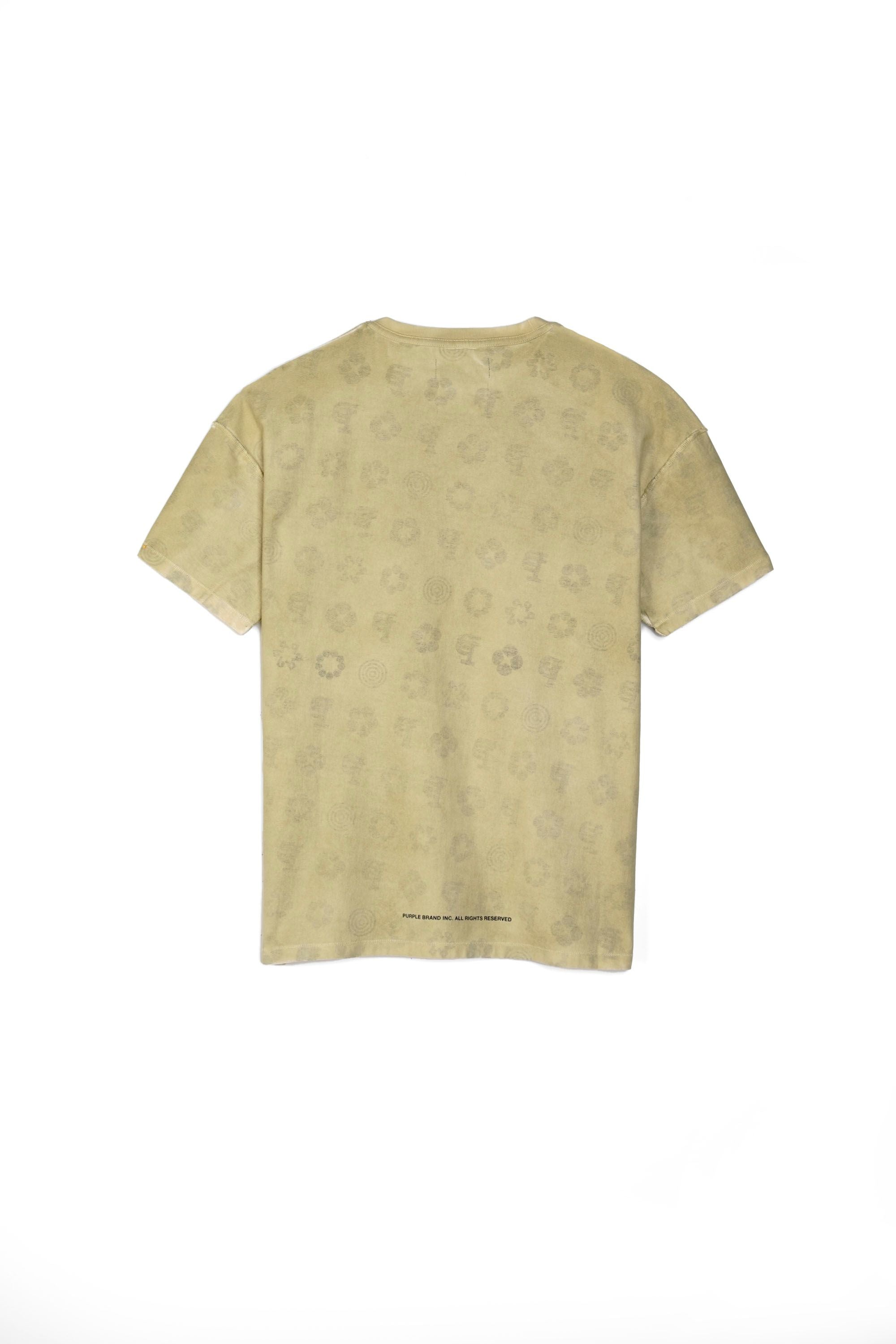P101 RELAXED FIT - MOSS SPRAY TEE WITH INNER MONOGRAM PRINT