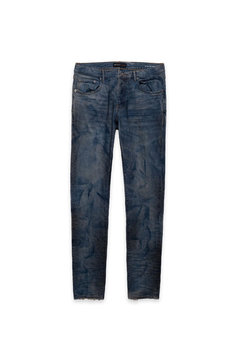 P001 LOW RISE WITH SLIM LEG - French Blue Indigo Dirty Resin