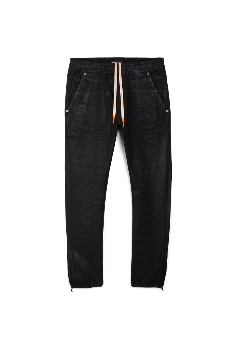 P012  - Black Tar Coated Jogger
