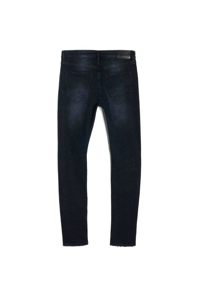 P002 MID RISE WITH TAPERED LEG - Black Wash Blowout