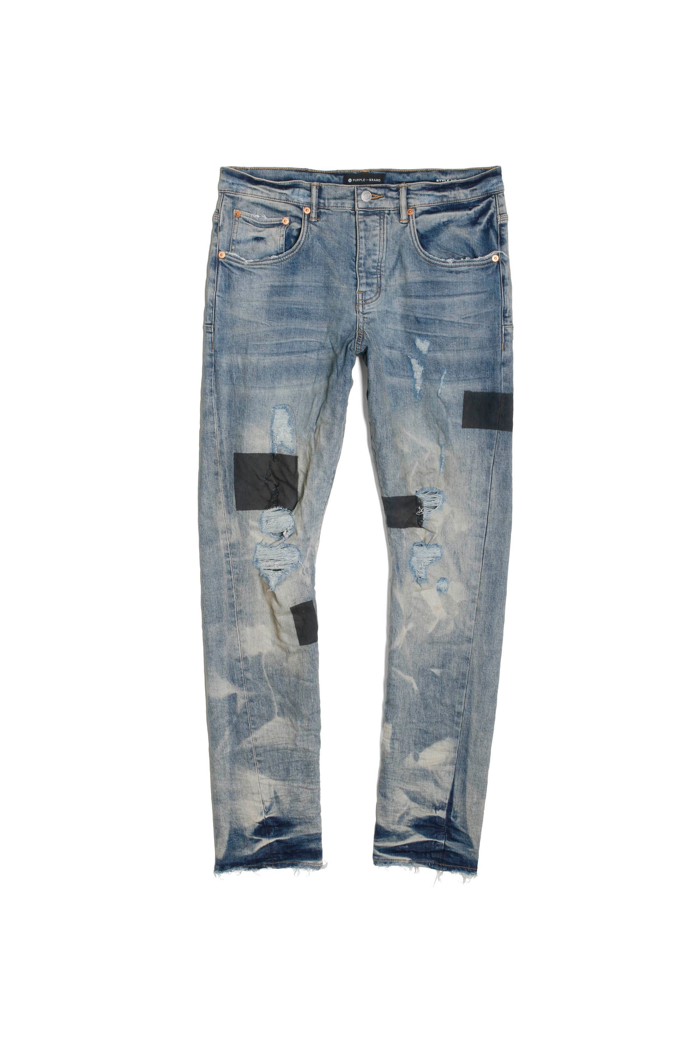 P011 MID RISE WITH STRAIGHT LEG - Dirty Tape Indigo