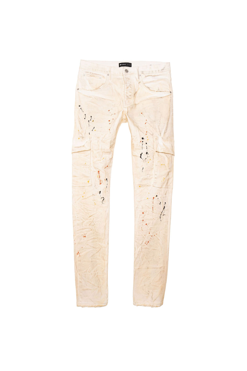 P002 MID RISE WITH TAPERED LEG - WHITE DIRTY CARGO