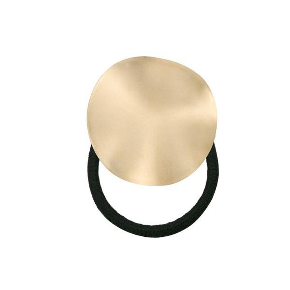 Wavy Disc Pony Holder Gold Matte